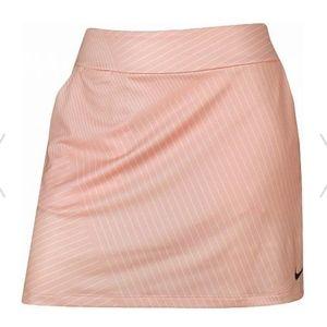 """Nike Dri-Fit 16.5"""" Stripe Golf Skort in Storm Pink"""